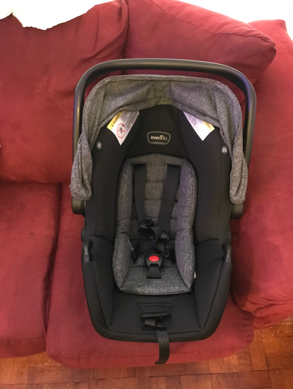 Evenflo Car Seat w/ Free Stop Germs Sign