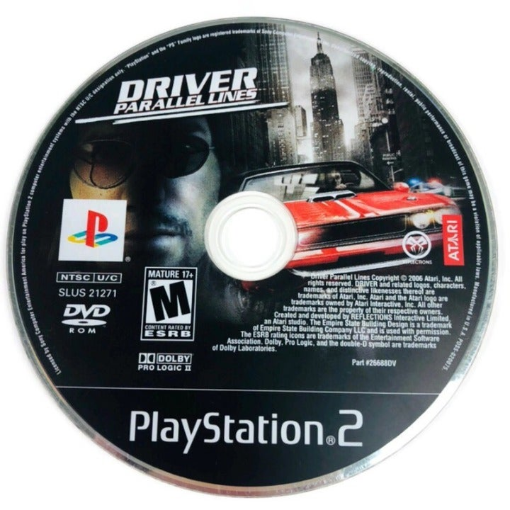 Driver Parallel Lines Sony Playstation 2