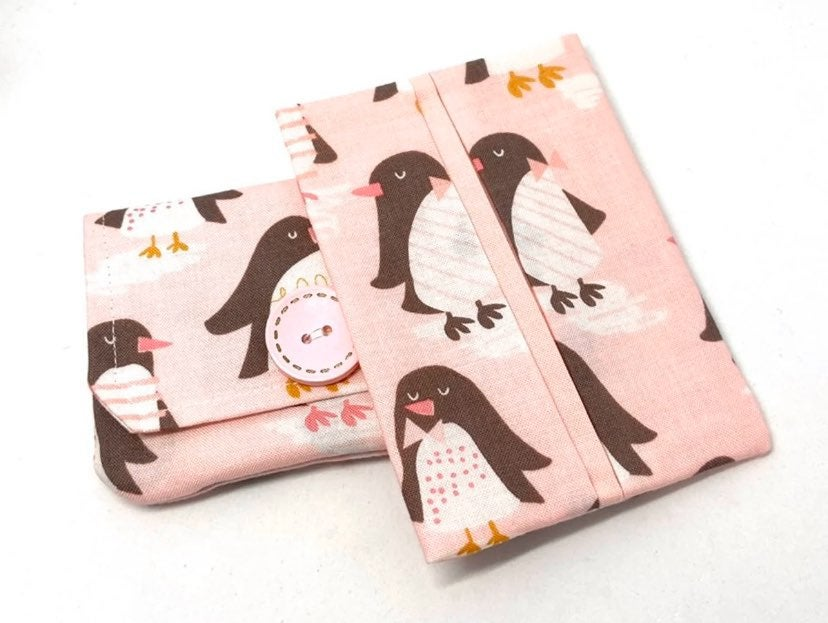 Penguin Fabric Card Wallet/Tissue Holder