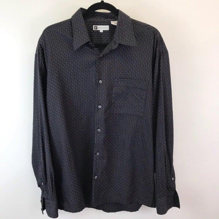 Bacharach Men's Dress Shirt L