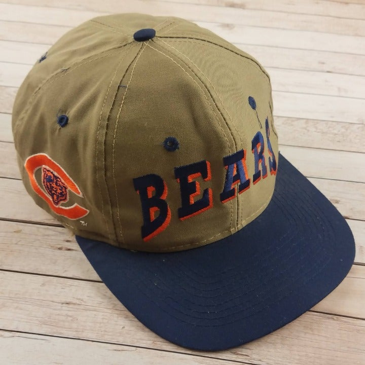 VTG 1990s Chicago Bears Spellout Tan Hat