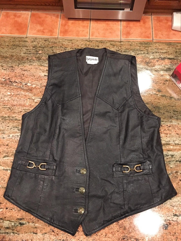 Vest Genuine Leather Black Large