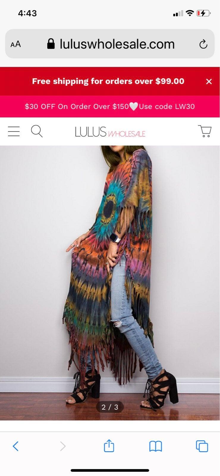 Poncho style dress/top