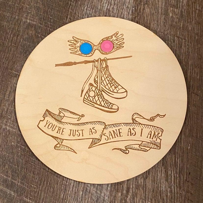 "Harry potter luna lovegood 8"" round"