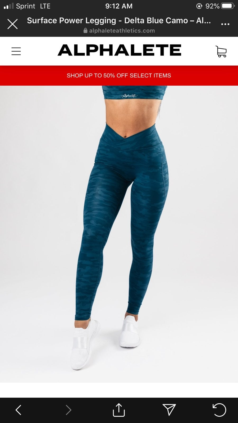 Alphalete Surface Path Legging in Blue c