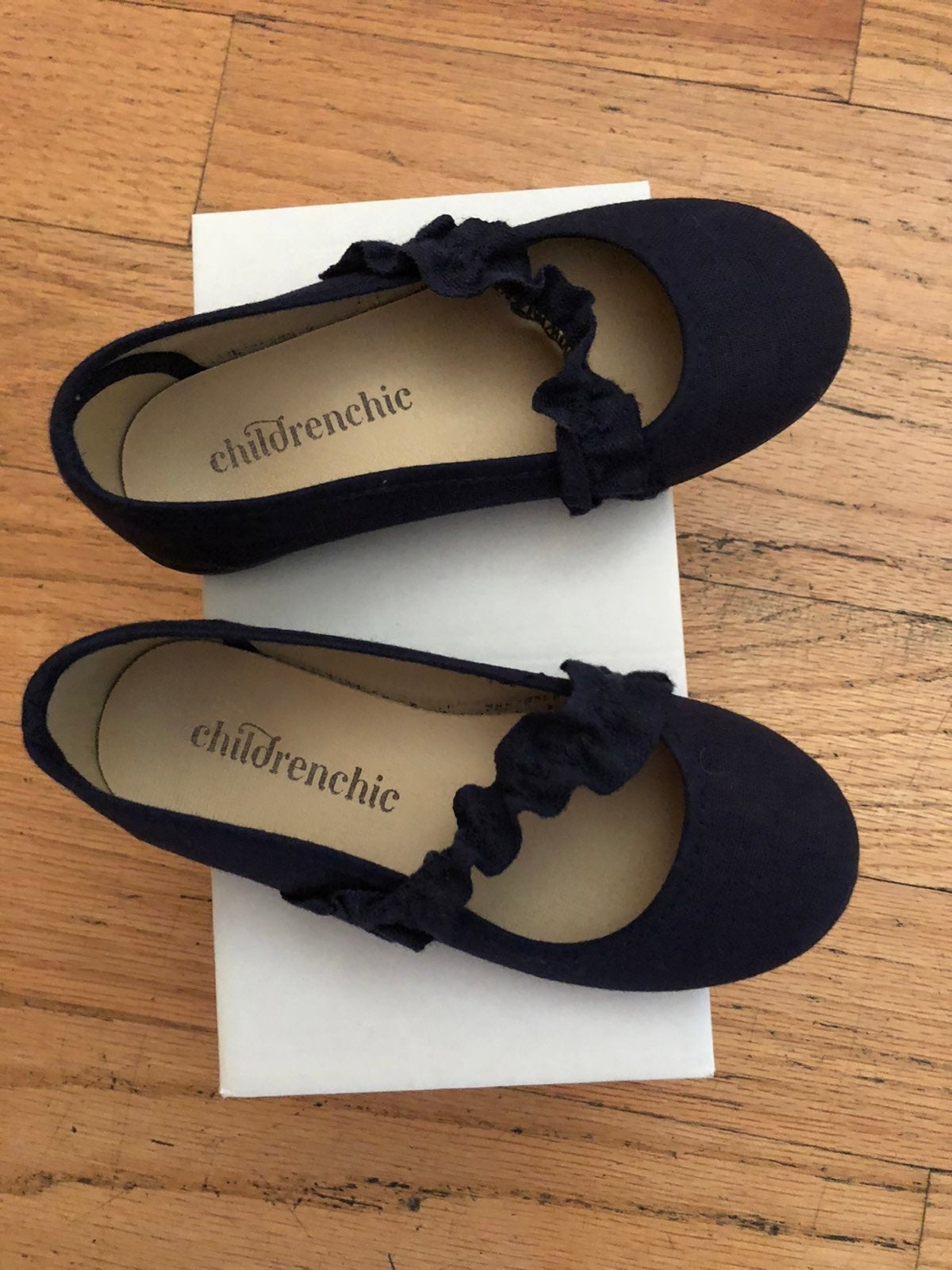 Childrenchic Navy blue toddler shoes