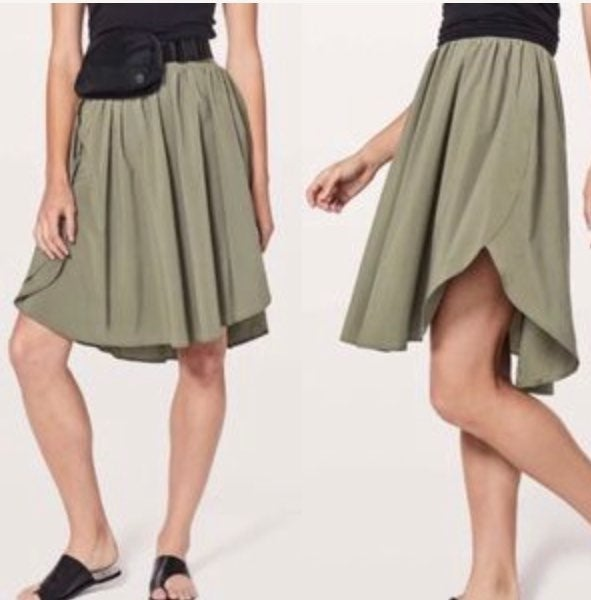 Lululemon The Everyday Olive/Green Skirt