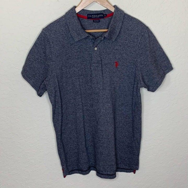 U.S. Polo Assn Men's Grey Heathered Polo