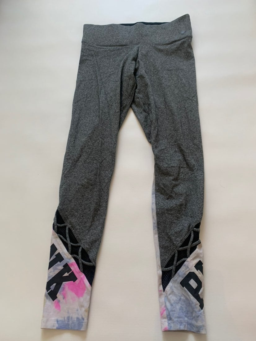 grey tie dye leggings from pink