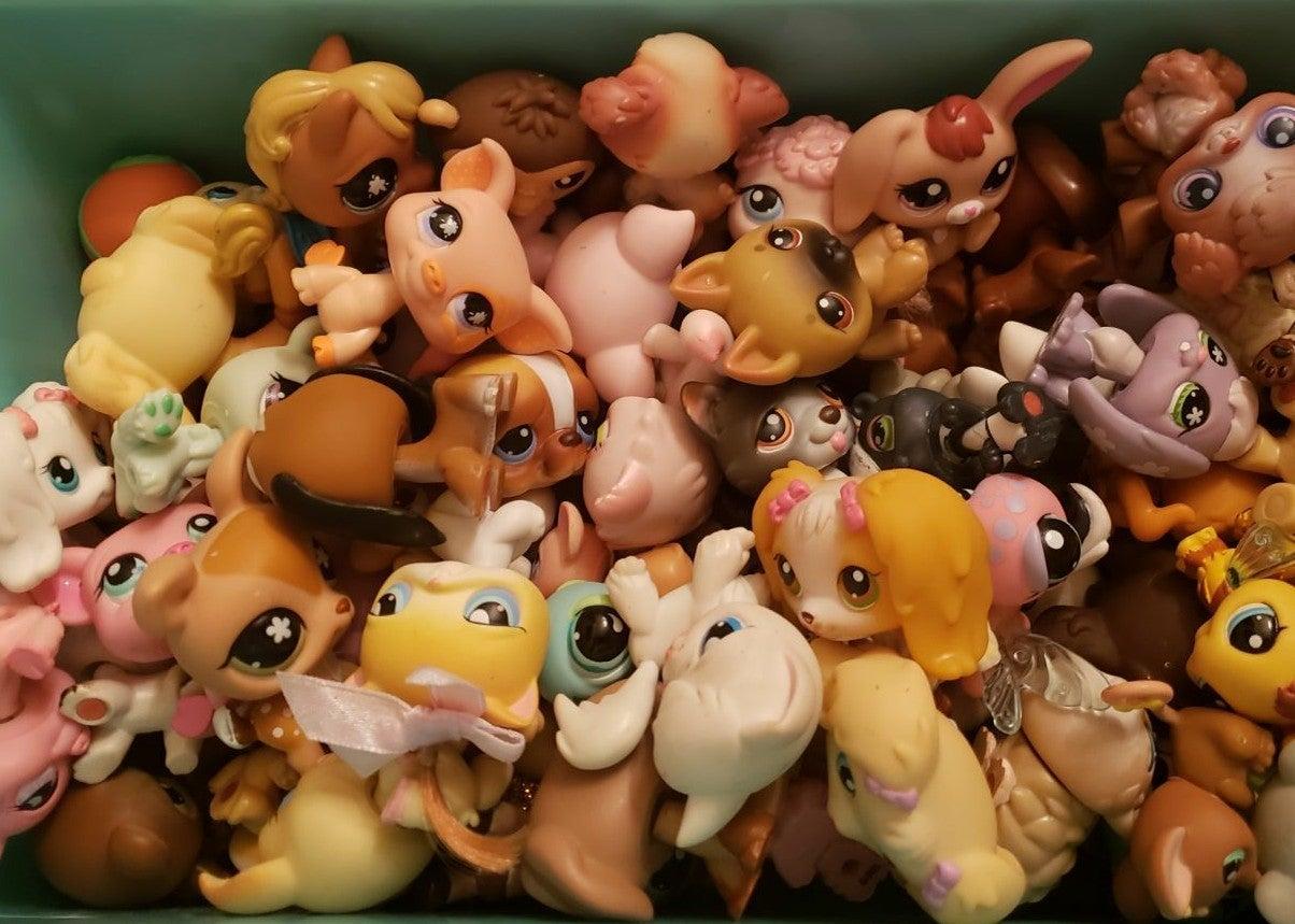 LPS lot of 5 random pets