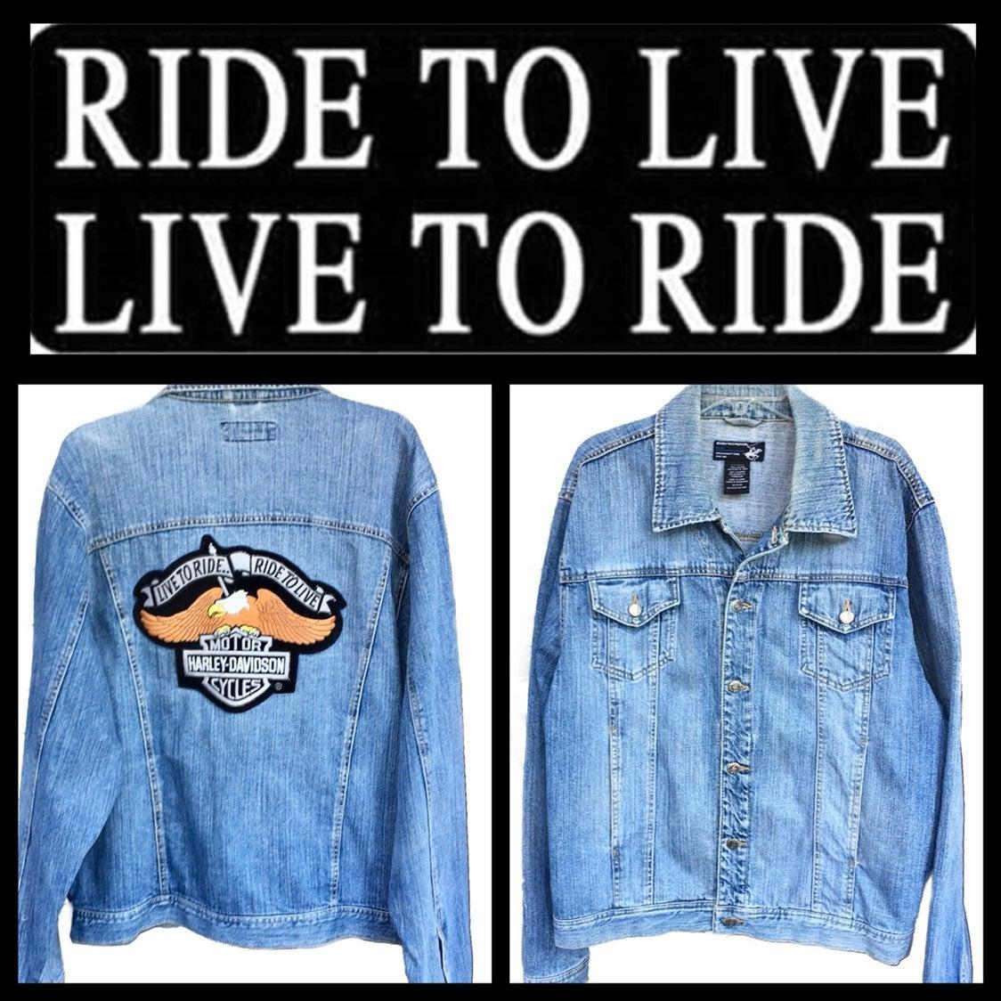 BH Polo Club Harley Davidson Jean Jkt XL