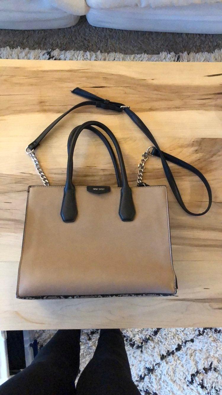 Nine West Black/Snake Print Handbag