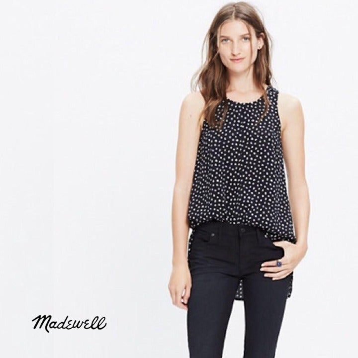 MADEWELL Racer Back Top In Star Flurry S