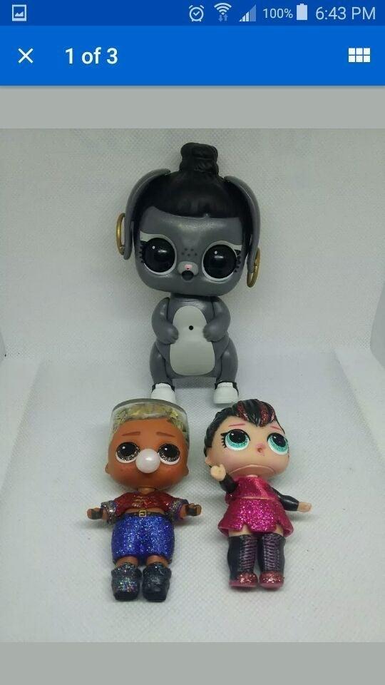 3pc Lol Surprise Doll Figure lot