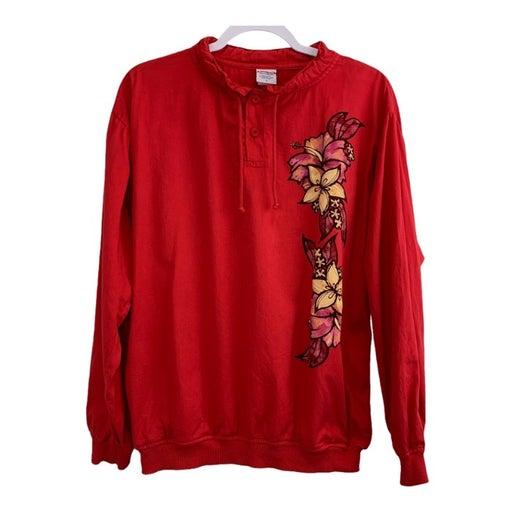 Crazy Shirts Hawaiian Red Floral Jacket