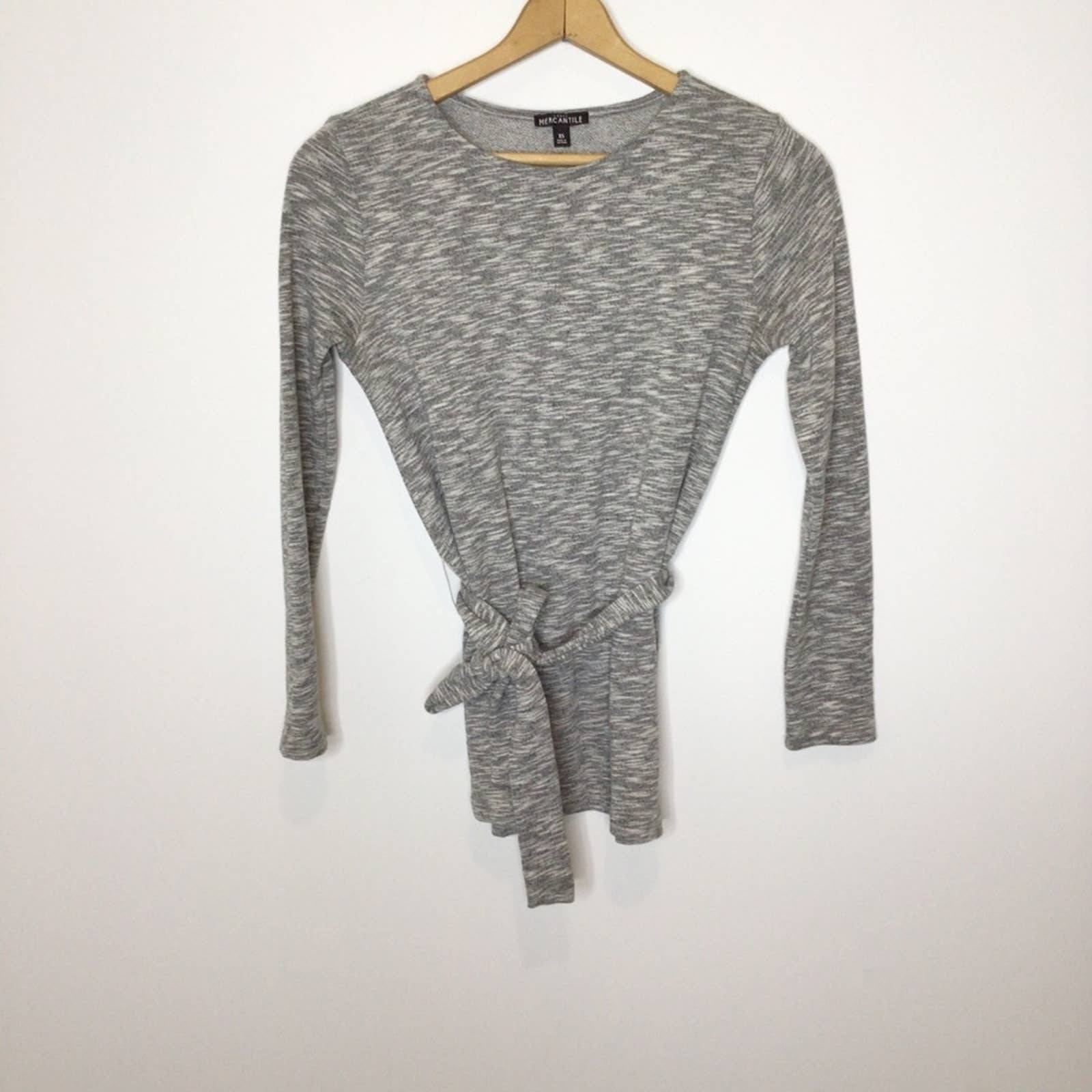 J.Crew Mercantile gray knit top XS EUC