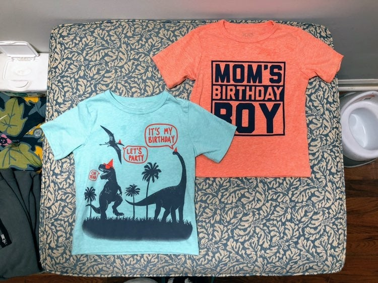 TWO Toddler Boy Birthday Tees 3T