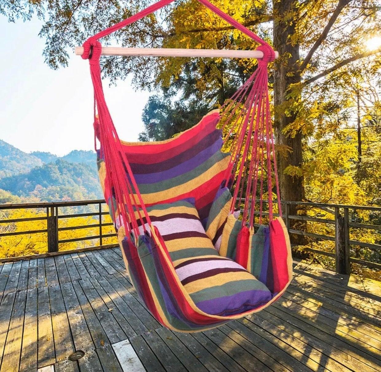 New Indoors Outdoors Hammock Chair Swing