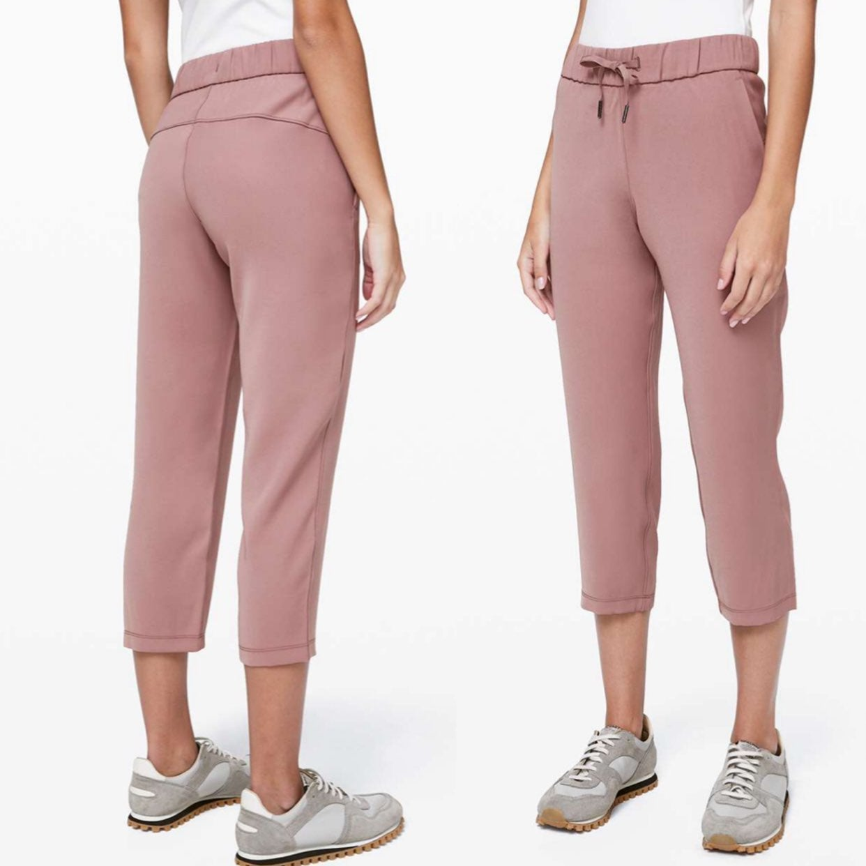 """Lululemon On the Fly Crop *Woven 23"""" 4"""