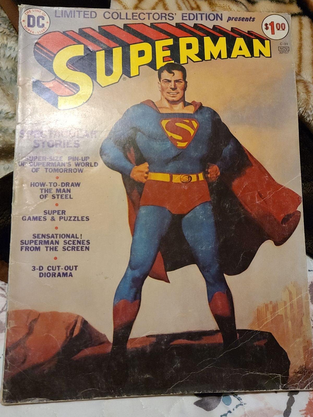 Superman treasury edition vintage comic