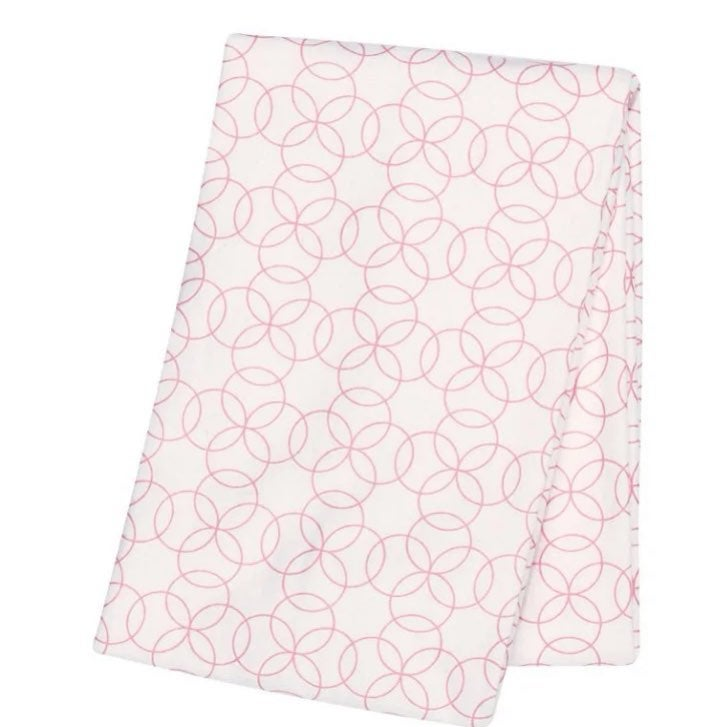 Trend Lab Baby Blanket NWT Pink Circles