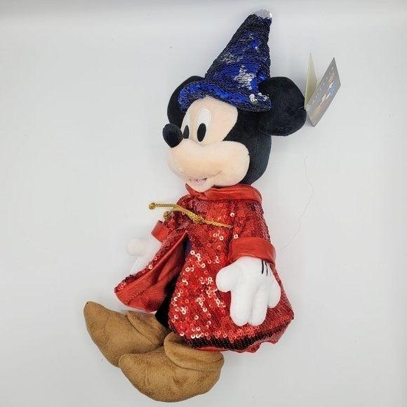 "Sorcerer Mickey Mouse Plush Fantasia 15"""