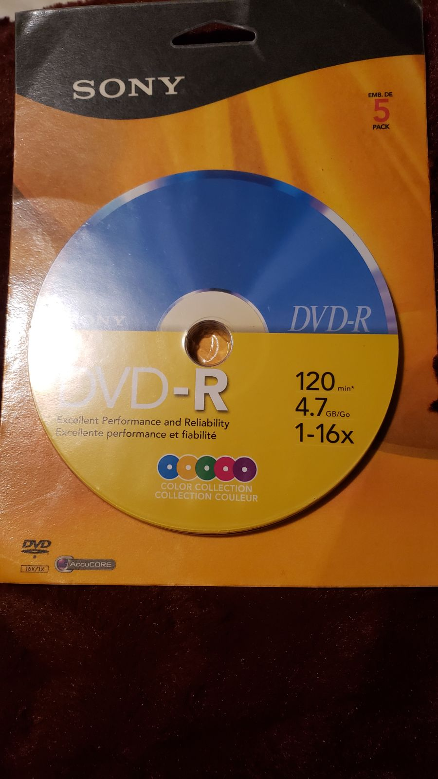 Sony dvd r blank discs