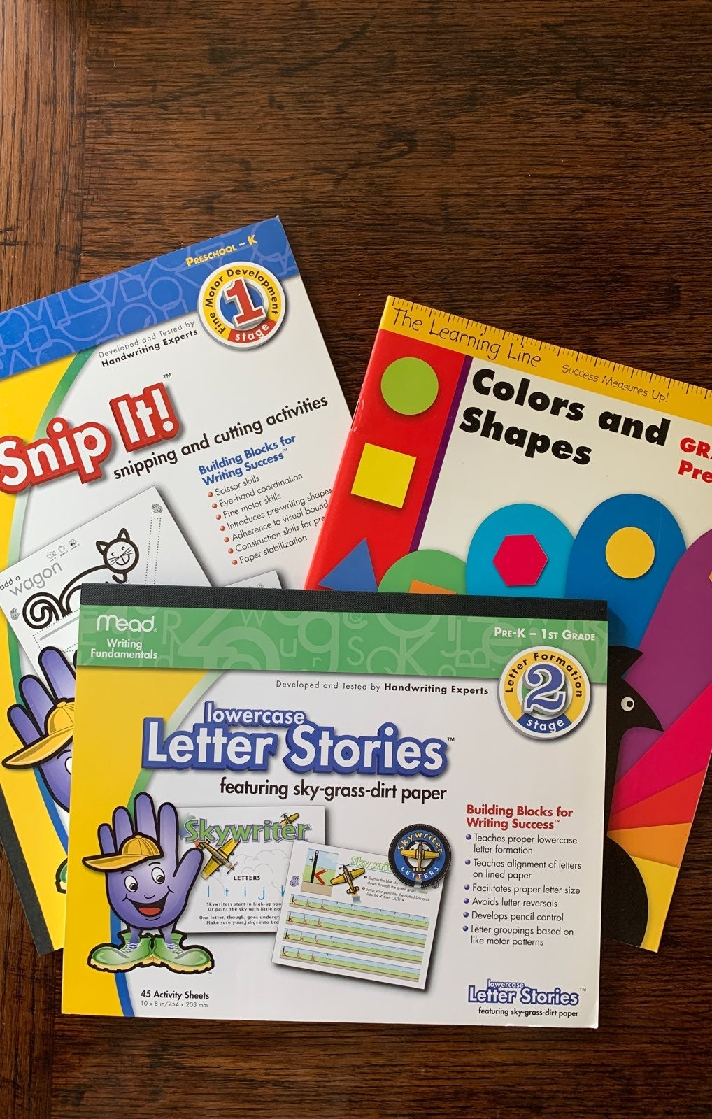 NEW early learning workbooks