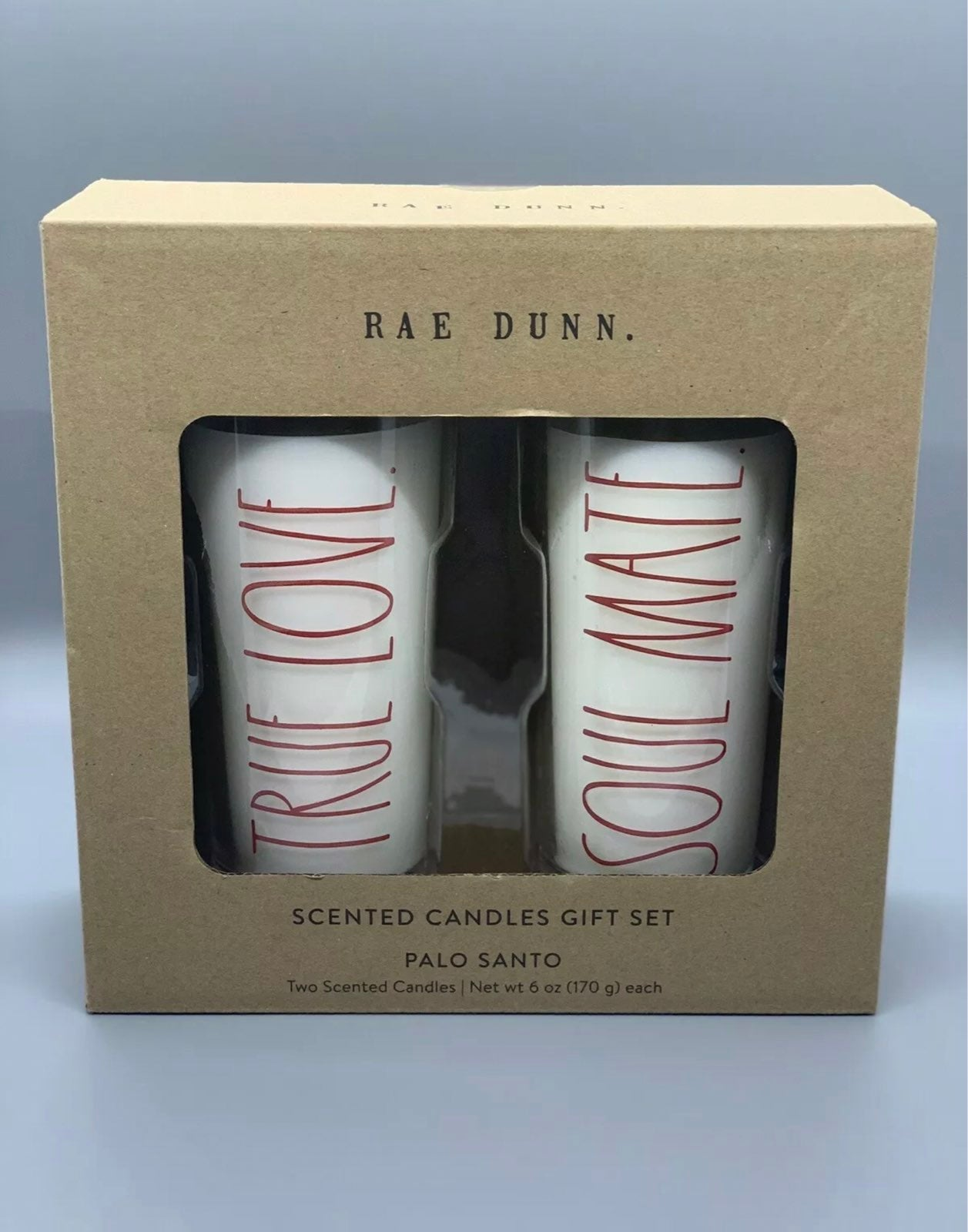 Rae Dunn Candle Gift Set TRUE LOVE #1562