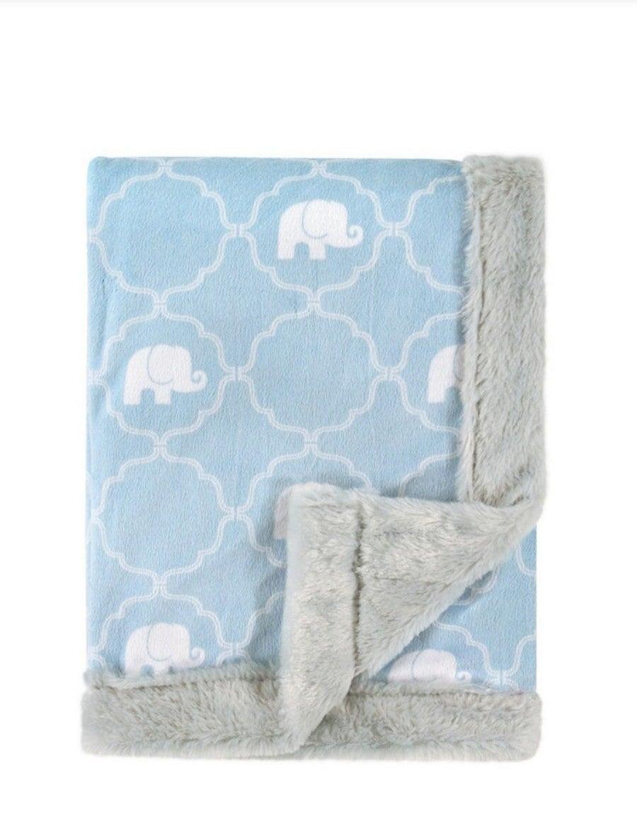Hudson Baby Plush Blanket Elephant Blue