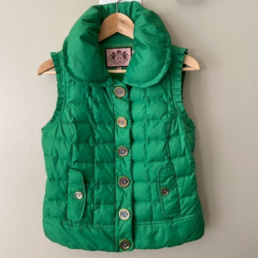 Juicy Couture Green Down/Feather Puffer