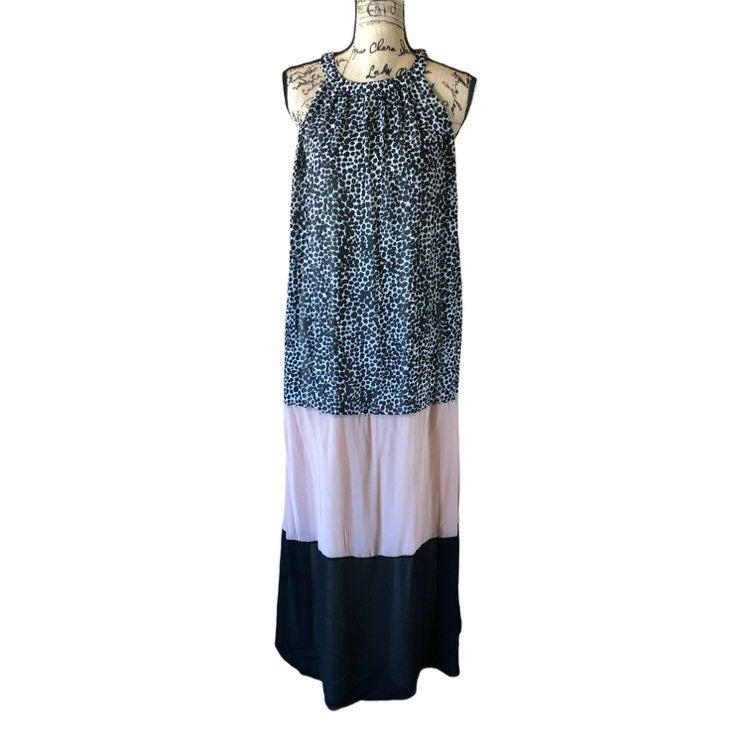 Bar 111 chiffon leopard print maxi dress
