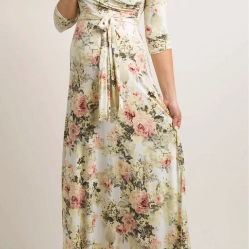 Floral Maternity and Nursing Dress