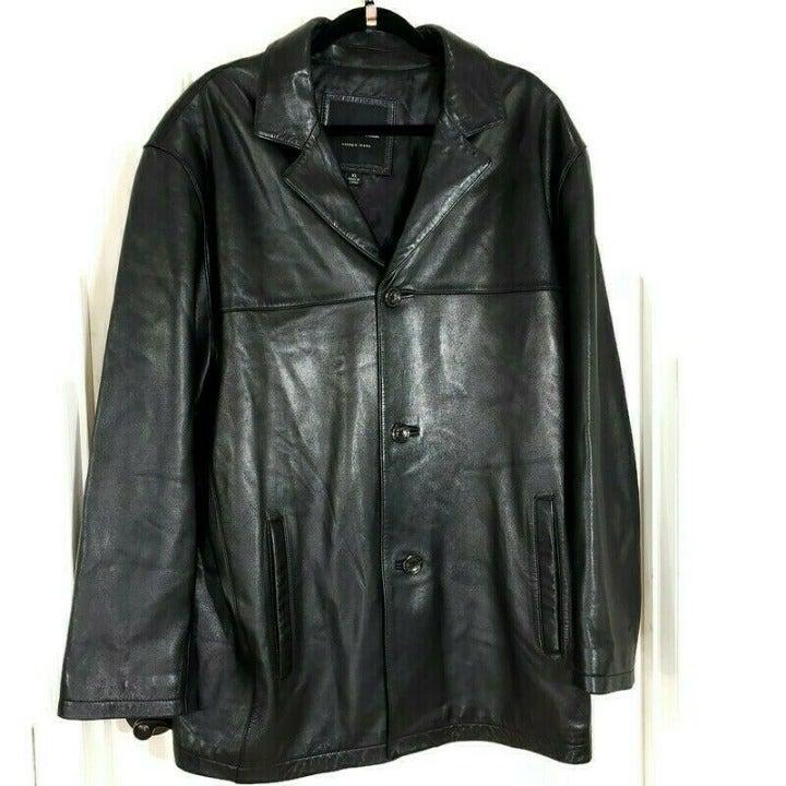 Marc New York Mens Black Leather Jacket