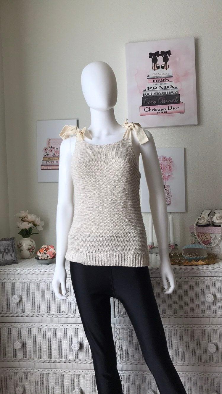 Madewell beige knit tank top Small