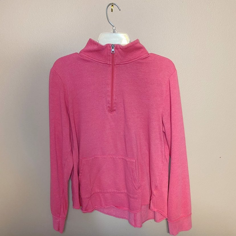 SO Pink Quarter Zip Pullover Sweatshirt