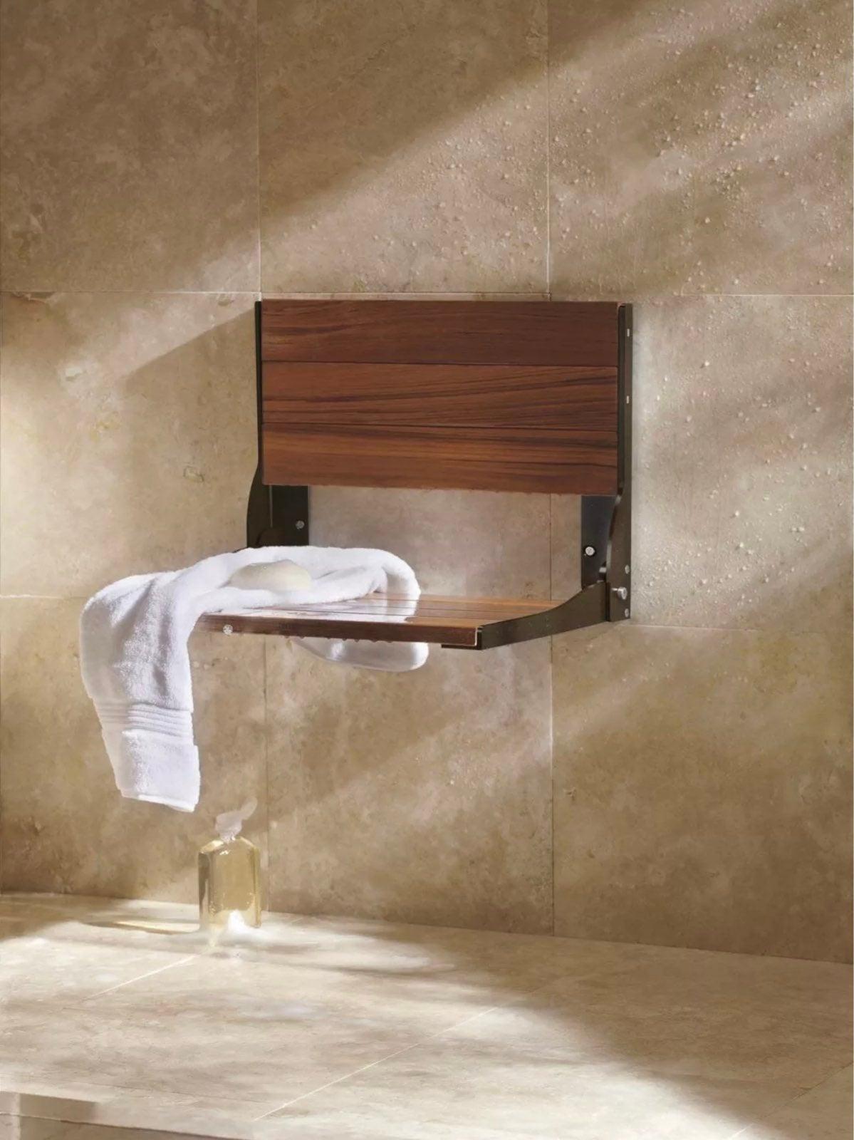 Moen Bronze Wooden Bath Wall Chair New