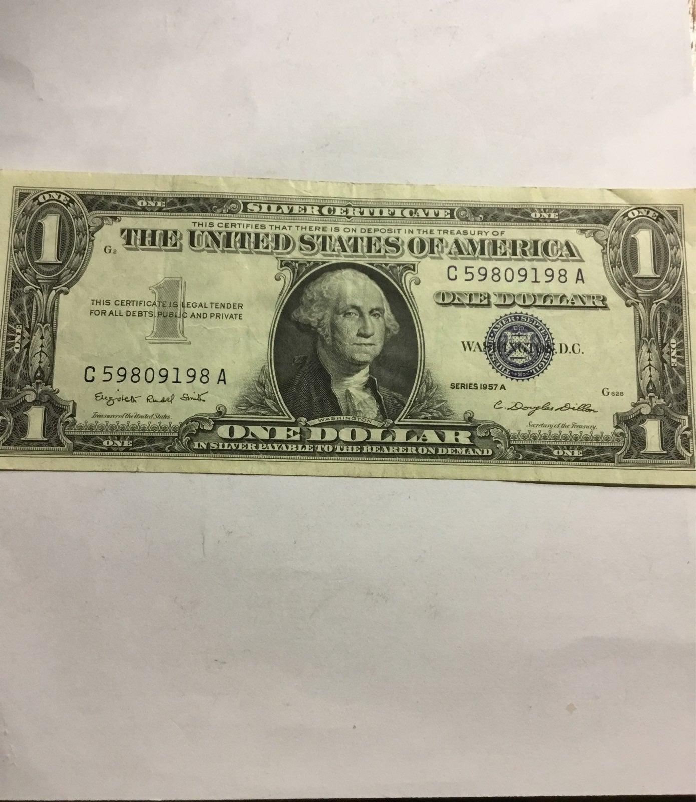 Silver Certificate 1957A nice bill