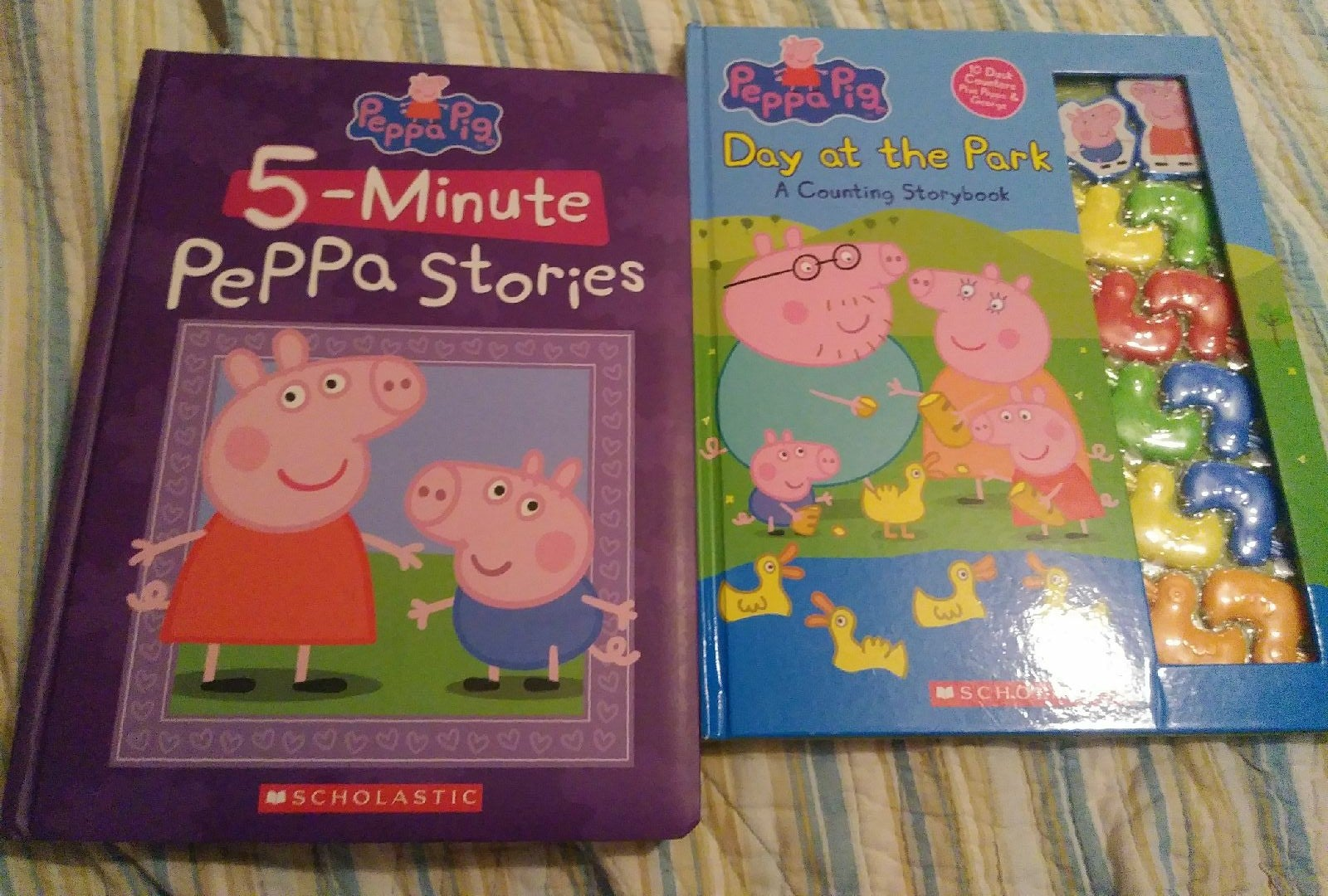 2 peppa pig books
