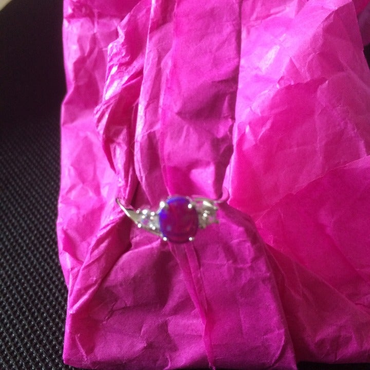 Ginger Lyne purple opal ring size 6