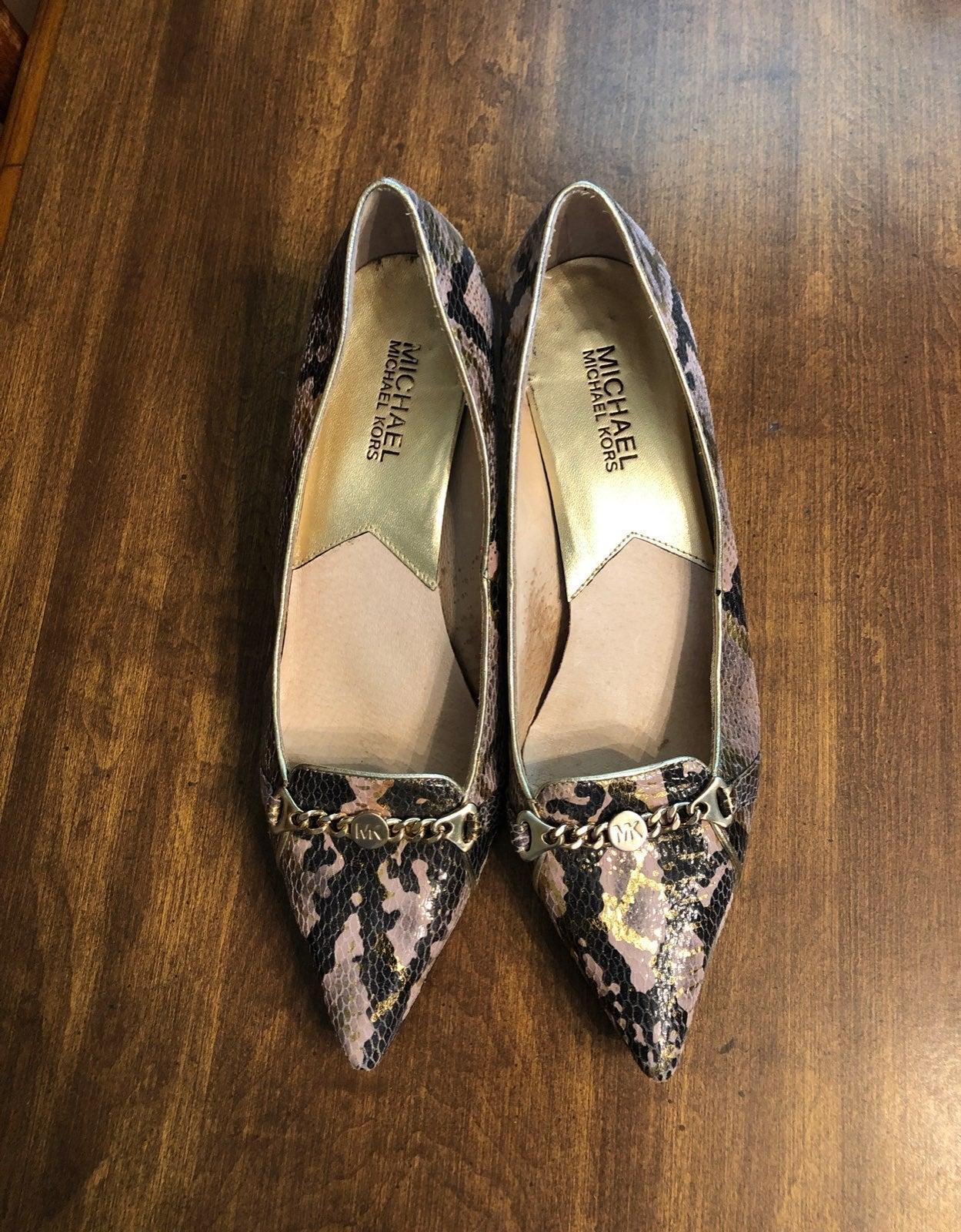Michael Kors snake skin heels. Size 8.5