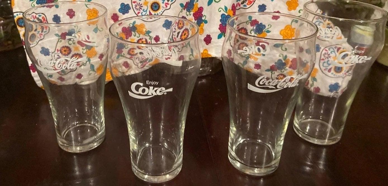 VIntage Coke-Cola drinking glasses