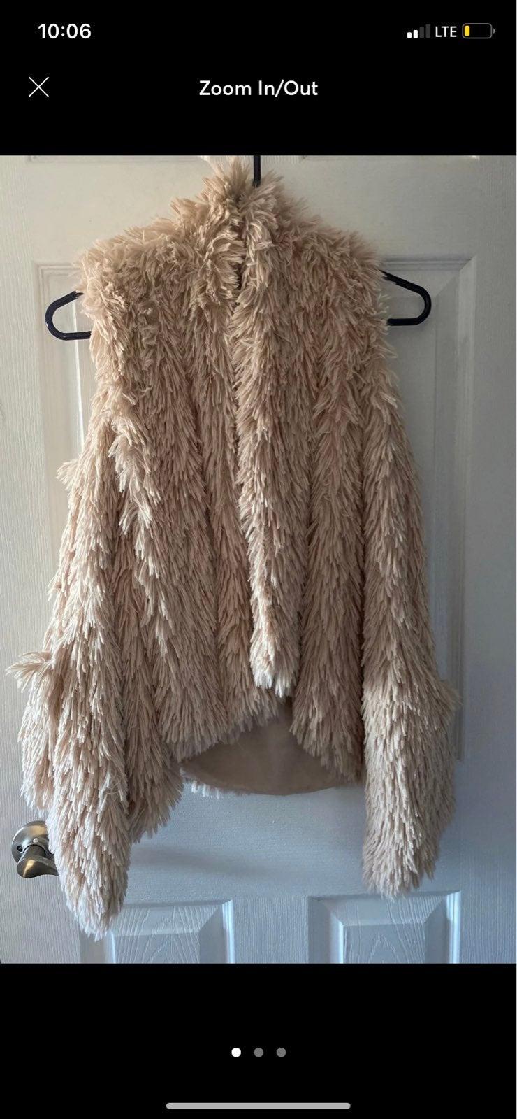 """Womens """"Shaggy Faux Fur"""" Vest"""