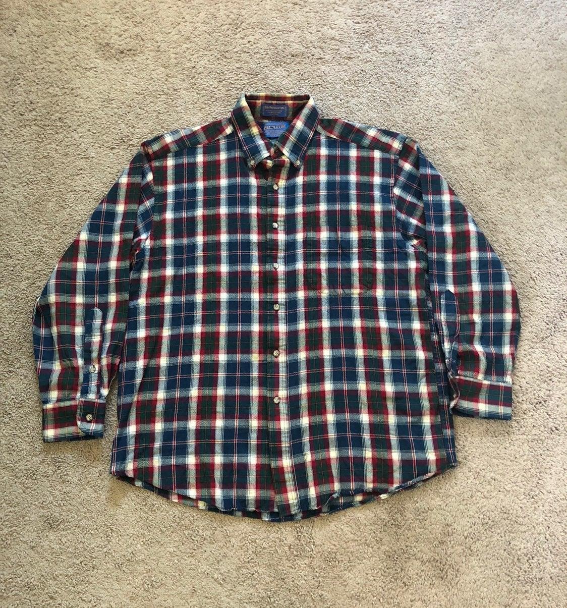Sir Pendleton Worsted Wool Plaid Shirt
