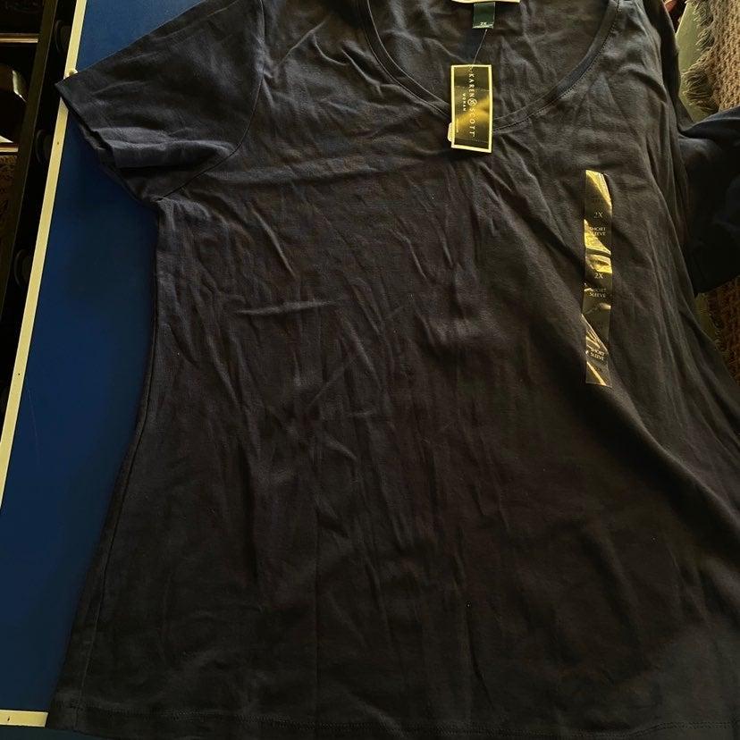 NWT Navy Short Sleeve Shirt