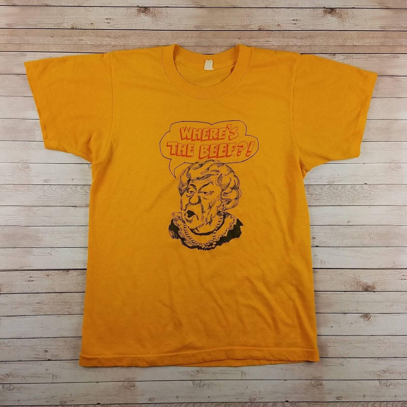 VTG 80s Wendys Single Stitch Tee Shirt