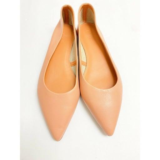 J.Crew Factory Light Pink Marina Leather Pointed Toe Flats EUC Size 8