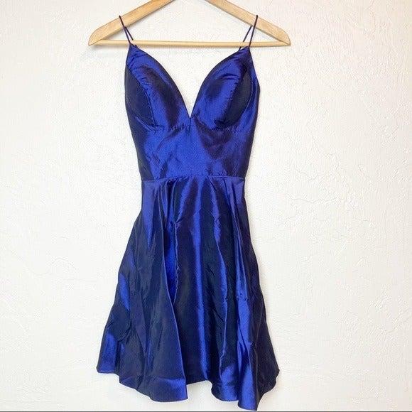 Sherri Hill Blue Short formal dress 0