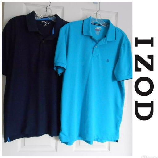 2 IZOD Men's Short Sleeve Polo Shirt  M