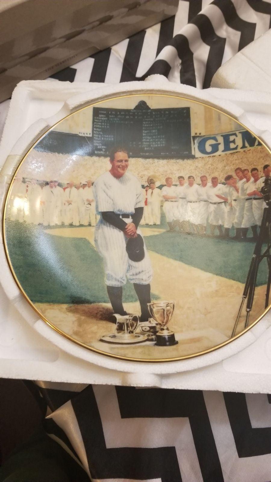 Bradford Exchange Lou Gehrig Plate